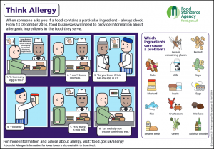 Think Allergy poster June 2014